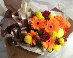 画像3: ガーベラとクラスペディアの花束 (3)