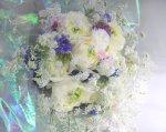 画像3: ラナンキュラスと矢車草の花束 (3)