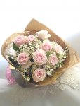 画像5: バラとワックスフラワーの花束〜Pure (5)