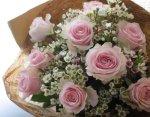 画像2: バラとワックスフラワーの花束〜Pure (2)
