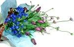 画像4: 紫のチューリップとデルフィニウムの花束 (4)