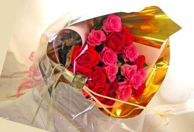 画像1: バラの花束