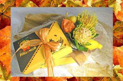 画像3: ハロウインキャンドルとアレンジのギフトセット