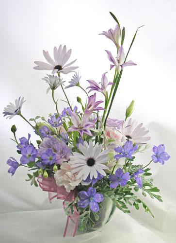 画像1: 青い小花のアレンジメント〜blooms of blue (1)