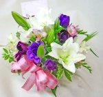 画像1: 紫の花の春のアレンジメント (1)