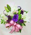 画像2: 紫の花の春のアレンジメント (2)