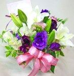 画像3: 紫の花の春のアレンジメント (3)