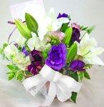画像5: 紫の花の春のアレンジメント (5)