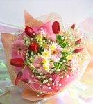 画像5: ストロベリーキャンドルと水仙の花束 (5)