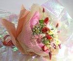 画像4: ストロベリーキャンドルと水仙の花束 (4)