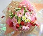 画像2: ストロベリーキャンドルと水仙の花束 (2)