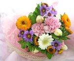 画像5: キンセンカとリューココリーネの花束 (5)