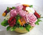 画像4: バラとキンセンカのアレンジメント (4)