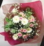 画像3: ミニバラとガーベラの花束 (3)