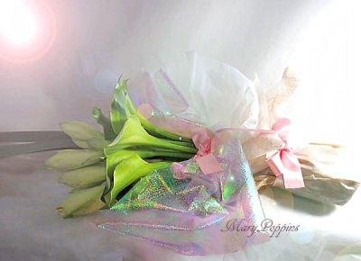 画像2: アマリリスとカラーの花束