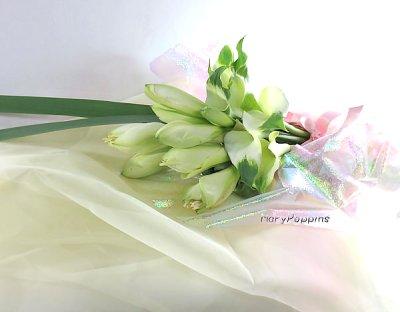 画像3: アマリリスとカラーの花束