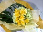 画像2: 黄色いバラの花束 (2)