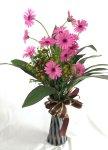画像1: ガーベラのポット付き花束 (1)