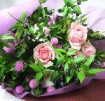 画像5: マートルとバラの花束 (5)