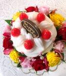 画像3: プリザーブドフラワーとキャンドルのデコレーションケーキ〜HappyBirthday (3)