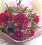 画像3: 藤袴とバラの秋の花束 (3)