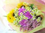 画像2: カモミールと向日葵の花束 (2)