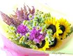 画像3: カモミールと向日葵の花束 (3)