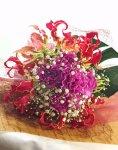 画像2: グロリオサとカーネーションの花束〜Robust love (2)