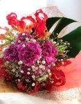画像4: グロリオサとカーネーションの花束〜Robust love (4)