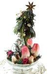 画像5: プリザーブド・チューリップのアレンジ〜Christmas forest (5)