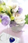画像1: パールネックレスと、ふんわり花束のギフトセット (1)