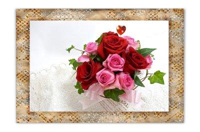 画像2: バラのアレンジメントと、ペアタンブラーのギフトセット