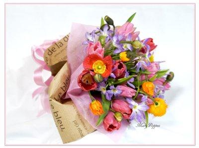 画像2: ポピーとリューココリーネの花束full of color