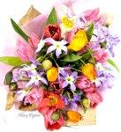 画像2: ポピーとリューココリーネの花束full of color (2)