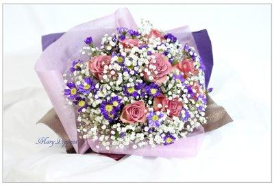 画像1: 都忘れとバラの花束