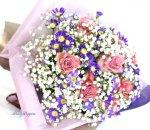 画像2: 都忘れとバラの花束 (2)