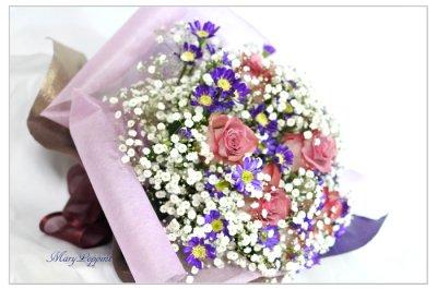 画像3: 都忘れとバラの花束