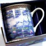 画像2: クロード・モネのマグカップと青いハーブティのギフトセット (2)
