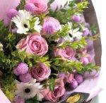 画像6: マートルとバラの花束 (6)