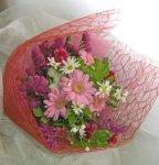 画像5: ガーベラとゼラニウムの花束 (5)