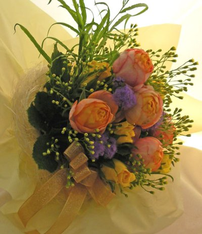 画像1: オレンジのバラの花束〜Orenge-cute