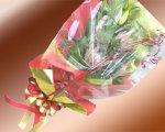 画像4: キングプロテアと百合の花束 (4)