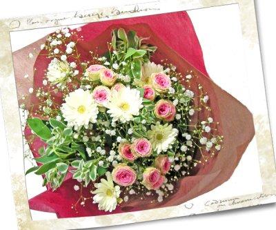 画像3: ミニバラとガーベラの花束