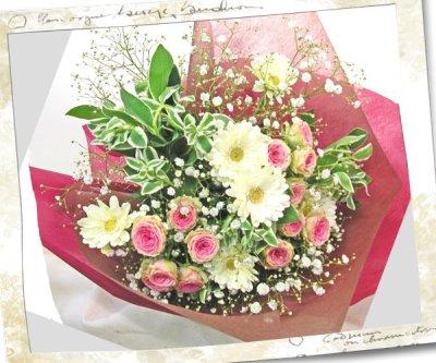 画像2: ミニバラとガーベラの花束