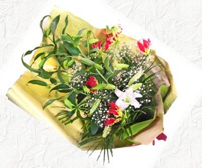 画像2: カサブランカとグロリオーサリリーの花束