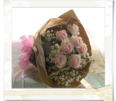 画像2: バラとワックスフラワーの花束〜Pure