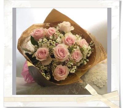 画像3: バラとワックスフラワーの花束〜Pure