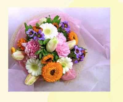 画像3: キンセンカとリューココリーネの花束