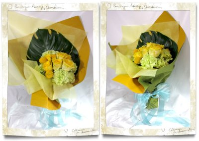 画像2: 黄色いバラの花束