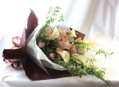 画像2: コデマリとカラーの春の花束